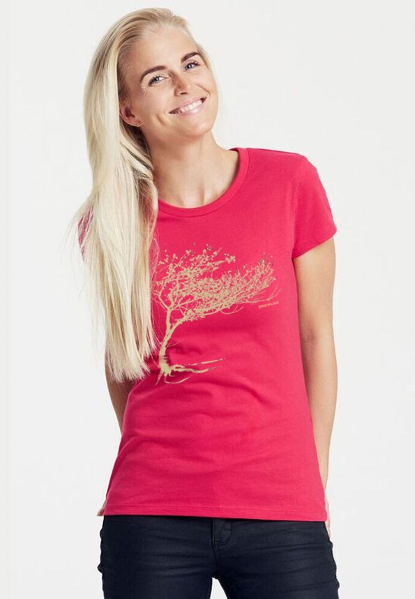 Peaces.bio - Exclusive Biomode aus der Steiermark Produkt-Beispiele Bio-Damen-T-Shirt Windy Tree